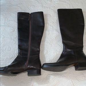 Lauren Ralph Lauren Brown Leather Riding Boots